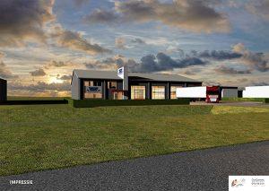 Nieuwbouw van het DAF Service pand voor BSF Leeuwarden