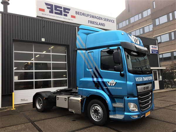 1e New CF 410 in Friesland voor Visser Transporten Bolsward