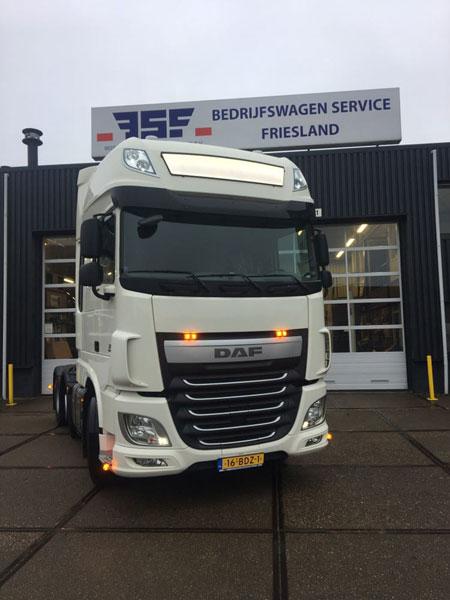 jong gebruikte First Choice DAF XF FTG 460 Super Space Cab voor Boekema Transport