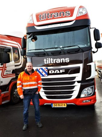 2e New DAF XF 480 FT voor Tiltrans