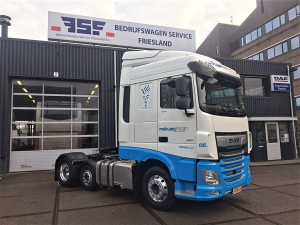 New DAF XF FTP 450 Space Cab voor Melkweg Fritom - afgeleverde DAF trucks