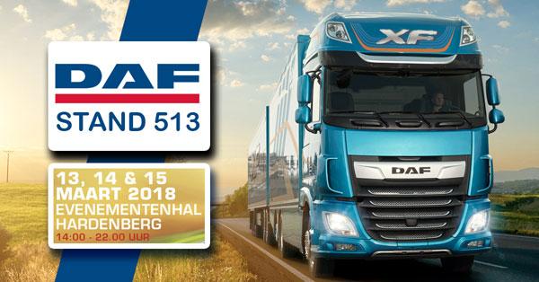 DAF EN DEALERS MET THE NEW XF EN CF ( de nieuwe DAF XF en CF ) OP TRANSPORT COMPLEET HARDENBERG