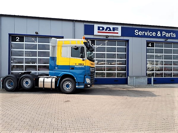 Drie XF 480 FTG 6x2 Space Cab voor COMBEX Transport