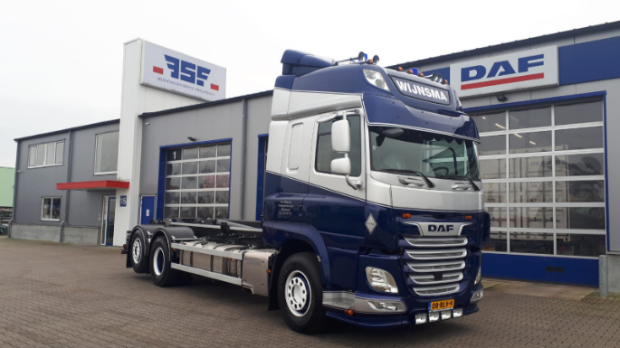 DAF CF 480 FAN 6x2 voor Wijnsma Container Transport