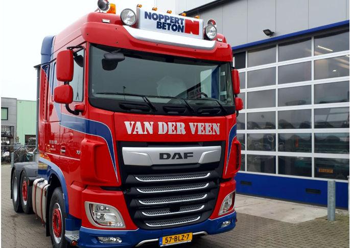 DAF XF FTG 480- 6x2 voor Marten van der Veen - afgeleverd door Bedrijfswagen Service Friesland