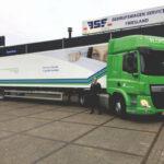 Nieuwe Isotherm Heiwo city oplegger voor Rentex Floron - afgeleverd door Bedrijfswagen Service Friesland