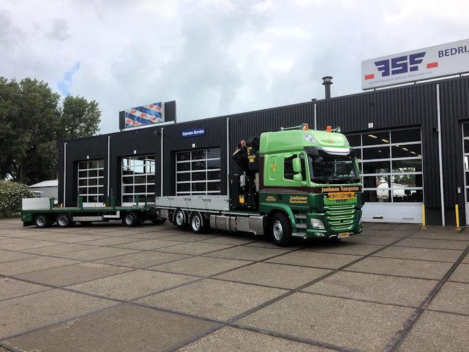 DAF CF 430 6x2 net Paflinger kraan voor Jonkman Transporten