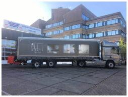 CF 450 Space Cab met Krone trailer voor Julius van der Werf