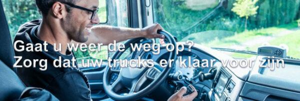 Stond uw truck lang stil? Wij zorgen samen met u dat uw trucks er klaar voor zijn wanneer u weer de weg op gaat.