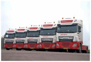 Vijf DAF XF First Choice trucks voor Veenstra Fritom