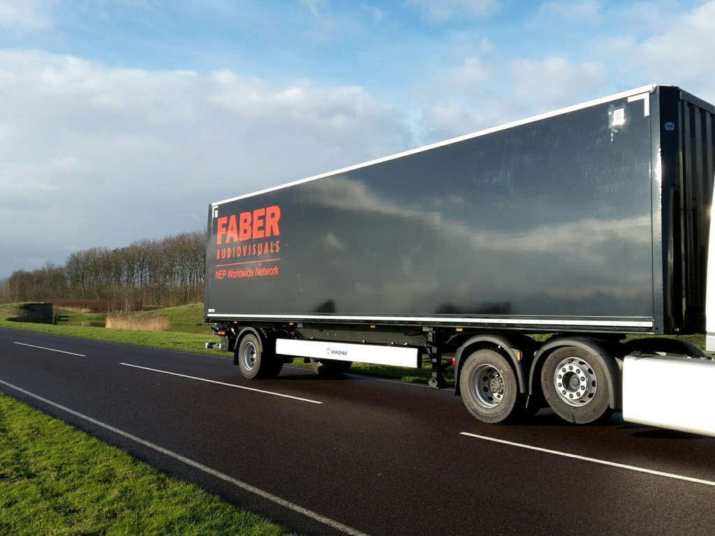 Krone kasten city trailer voor Faber Audiovisuals